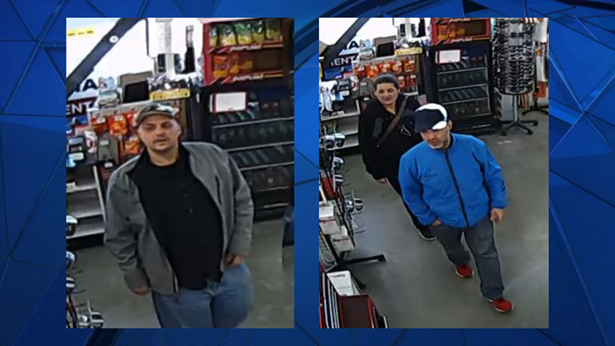 Plainfield police said the subjects pictured above are suspected in the theft of chainsaws from a local hardware store.