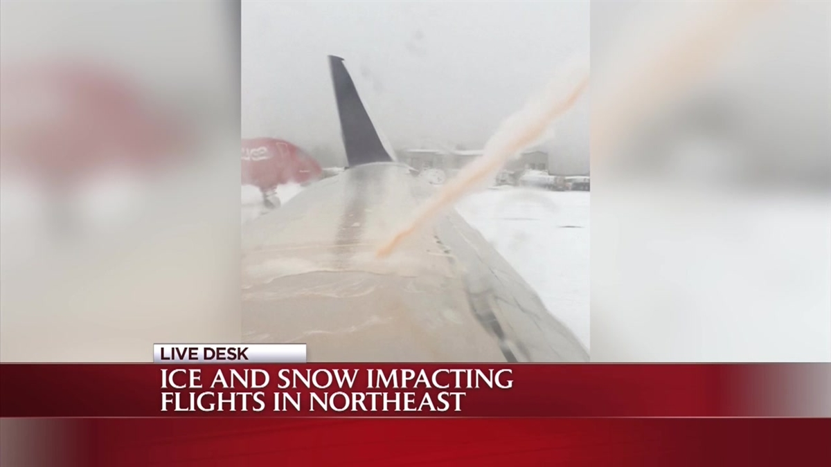 ric Loh said he was on a 6:15 a.m. flight and received a notification that his flight would be delayed for half an hour, but then passengers onboard the plane waited for hours for deicing, he said.