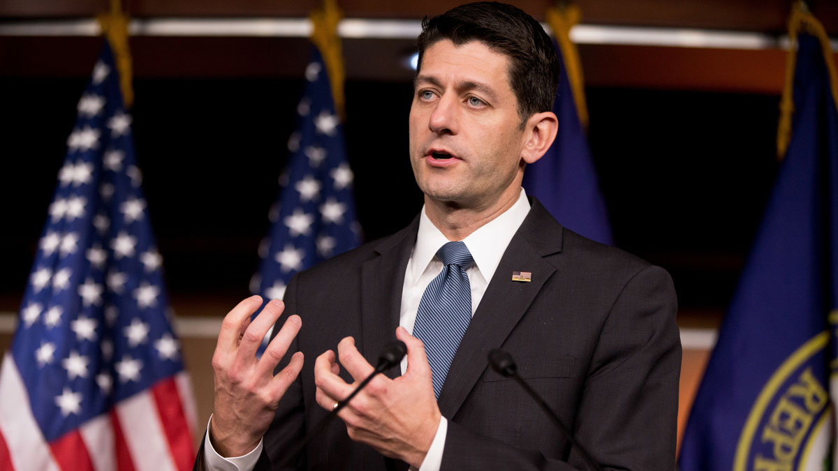 House Speaker Paul Ryan of Wisconsin speaks during his weekly news conference on Capitol Hill in Washington, May 19, 2016. Ryan told reporters he hasn't made a decision on whether to endorse presumptive nominee Donald Trump.