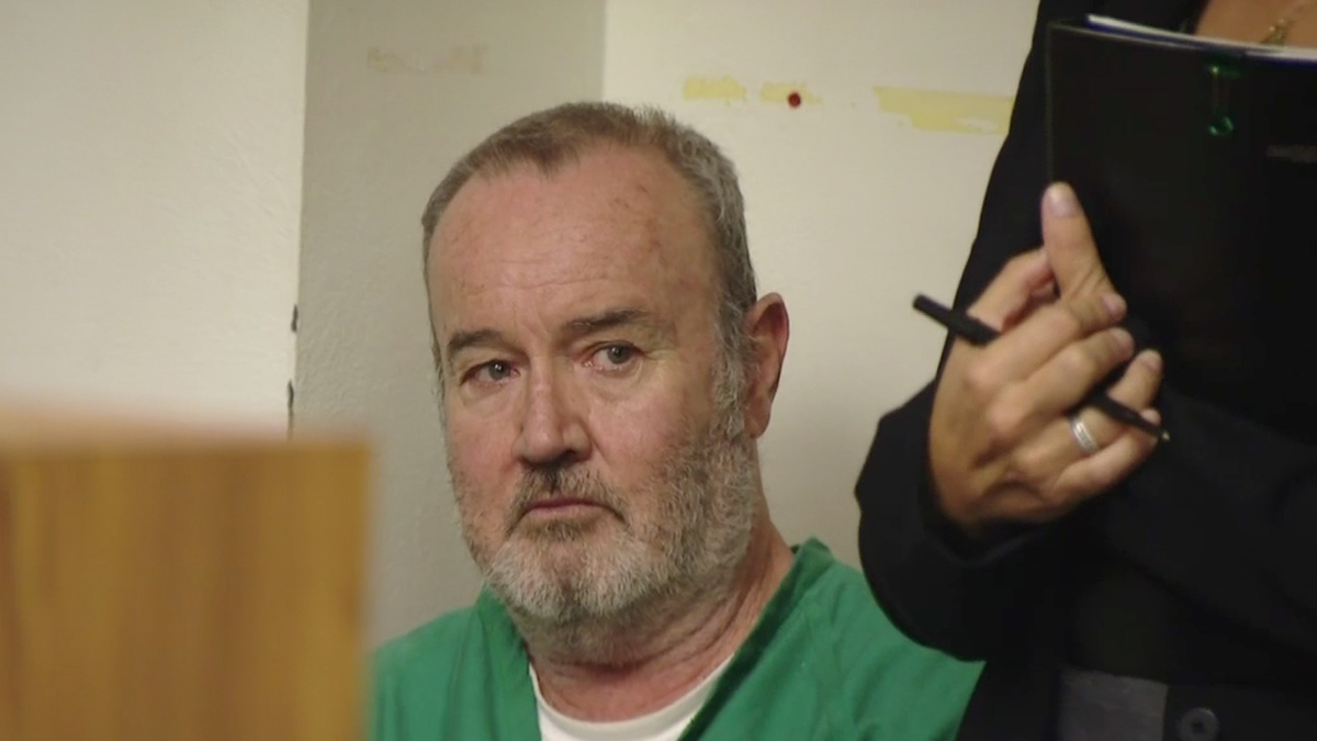 Peter Robbins, 59, at his appearance in a San Diego courtroom on Sept. 25, 2015. He now faces additional charges for making criminal threats.