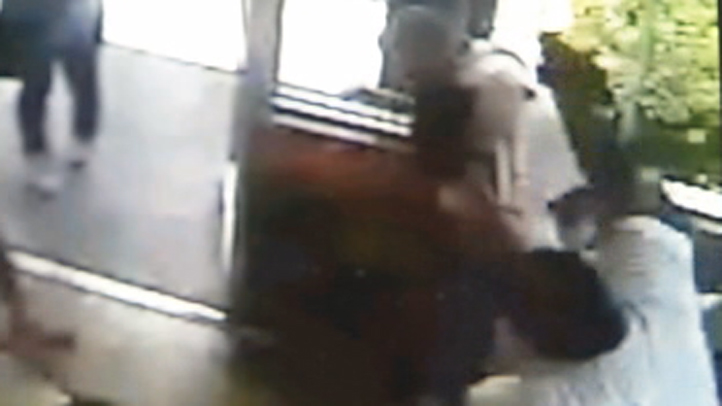 The pistol whipping was captured on surveillance video.
