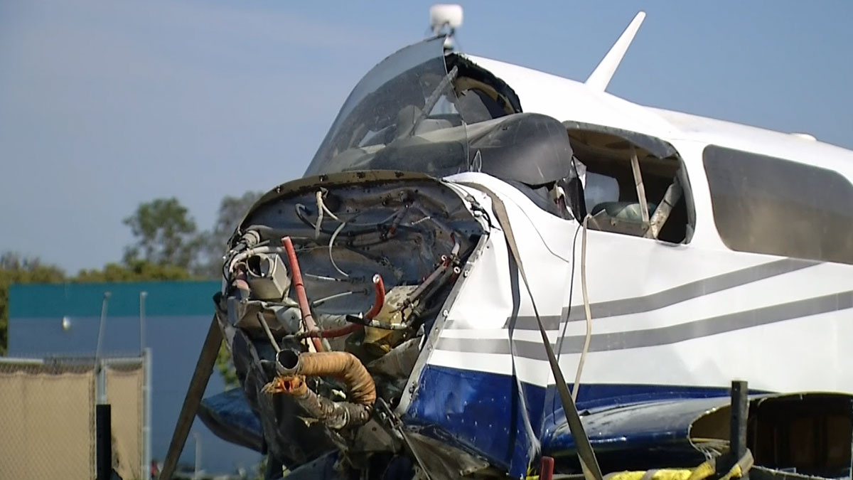 Plane involved in the collision over Kearny Mesa on July 30, 2014