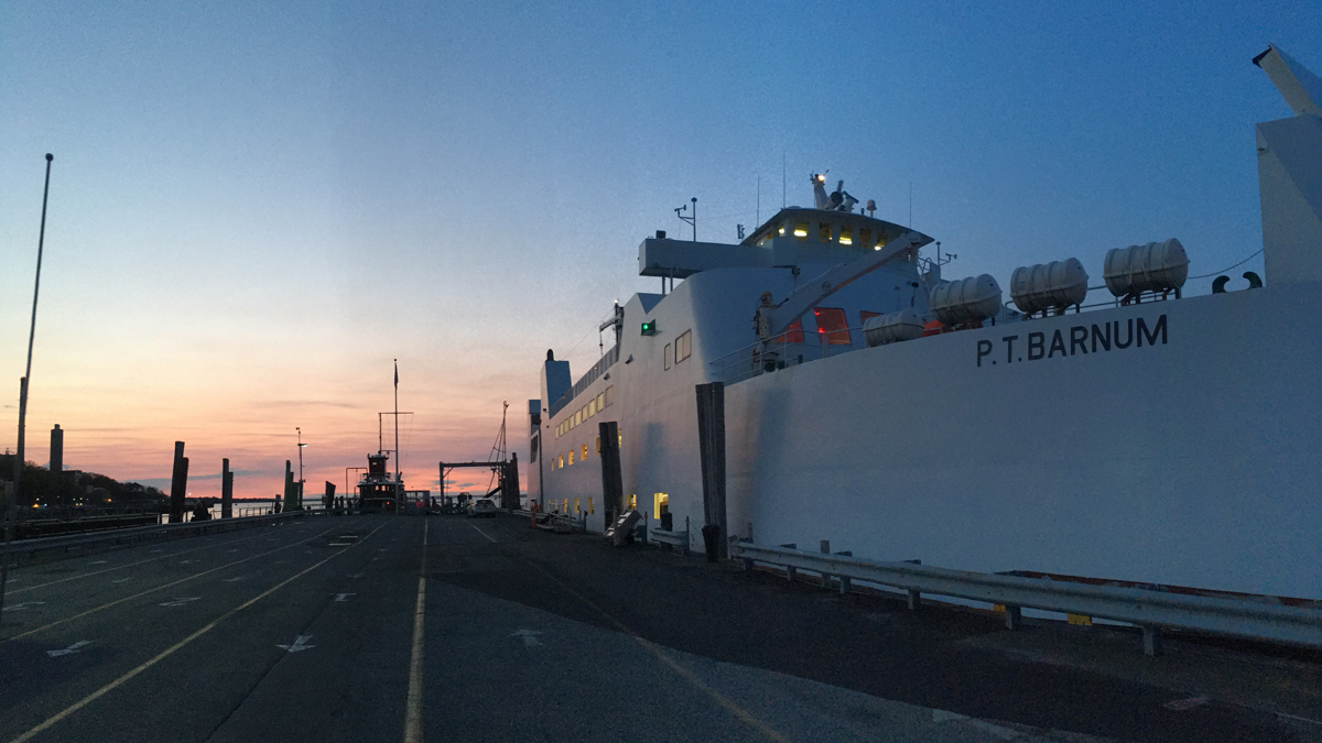 File photo of the PT Barnum at Port Jefferson ferry in Bridgeport.