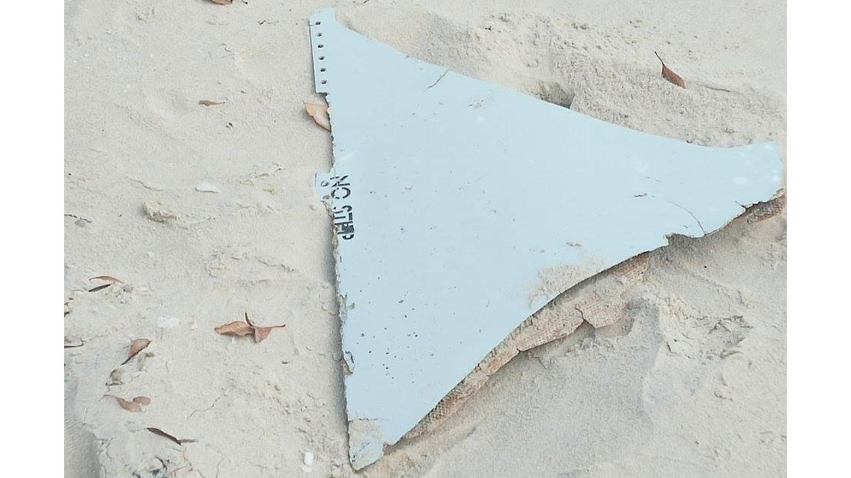 Debris possibly from missing Malaysia Airlines Flight MH370 found off Mozambique on March 2, 2016. Australian officials said on Marc 23 it is almost certain the debris came from the airplane.