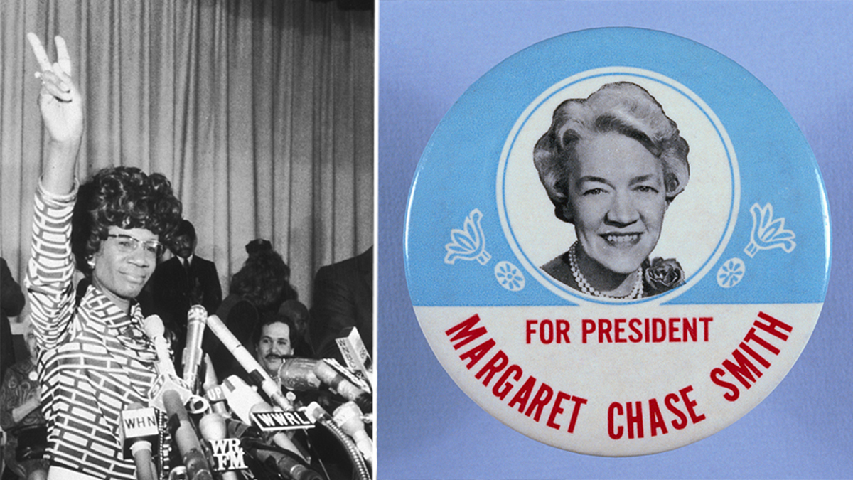 Shirley Chisholm, left, and Margaret Chase Smith