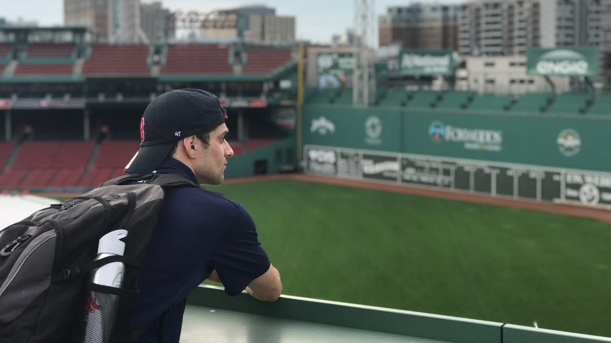 Quinnipiac University graduate student Paul Caraccilo has been working at Fenway Park in the Fan Youth Engagement department. After watching the Red Sox clinch a third straight American League East title, Caracciolo now has experience working during a playoff run and the first two games of a World Series.