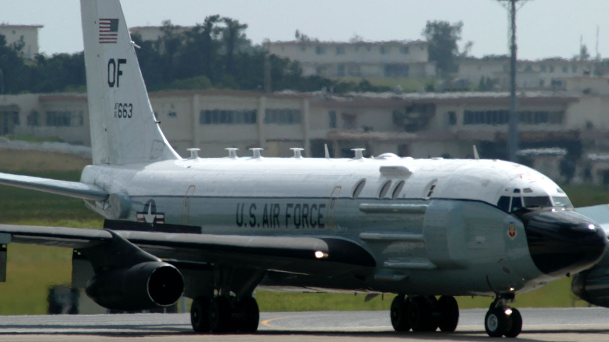 File photo of a U.S. RC-135 aircraft