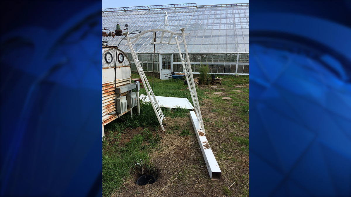 A trellis meant for the Roses for Autism sensory garden was damaged by vandals earlier this month.