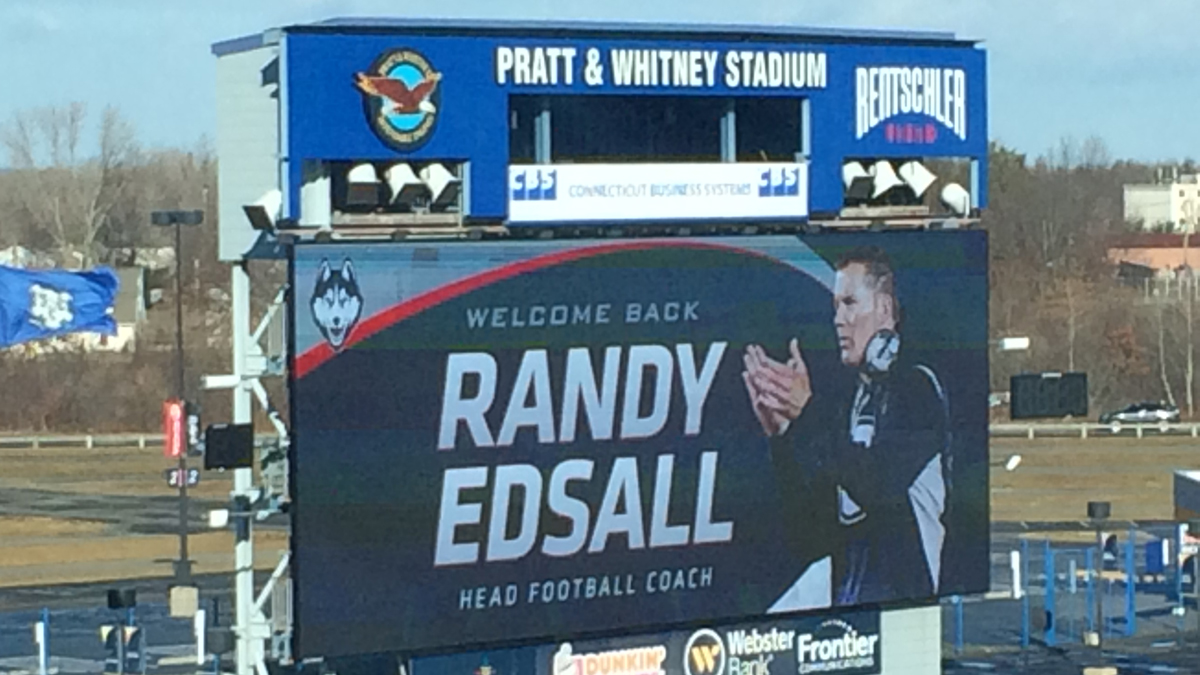 Randy Edsall was formally welcomed back as UConn's head football coach at a press conference on Friday.
