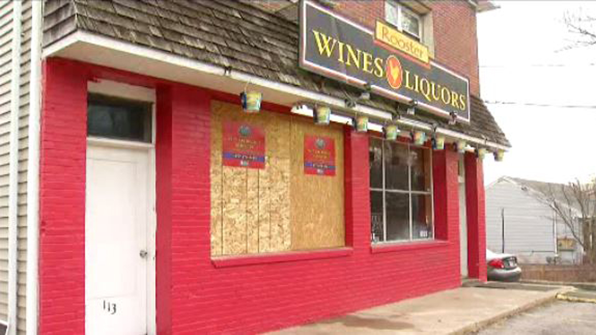 The Rooster Wine & Liquor Store on South Main Street in Newtown was robbed and vandalized Saturday night, according to police.
