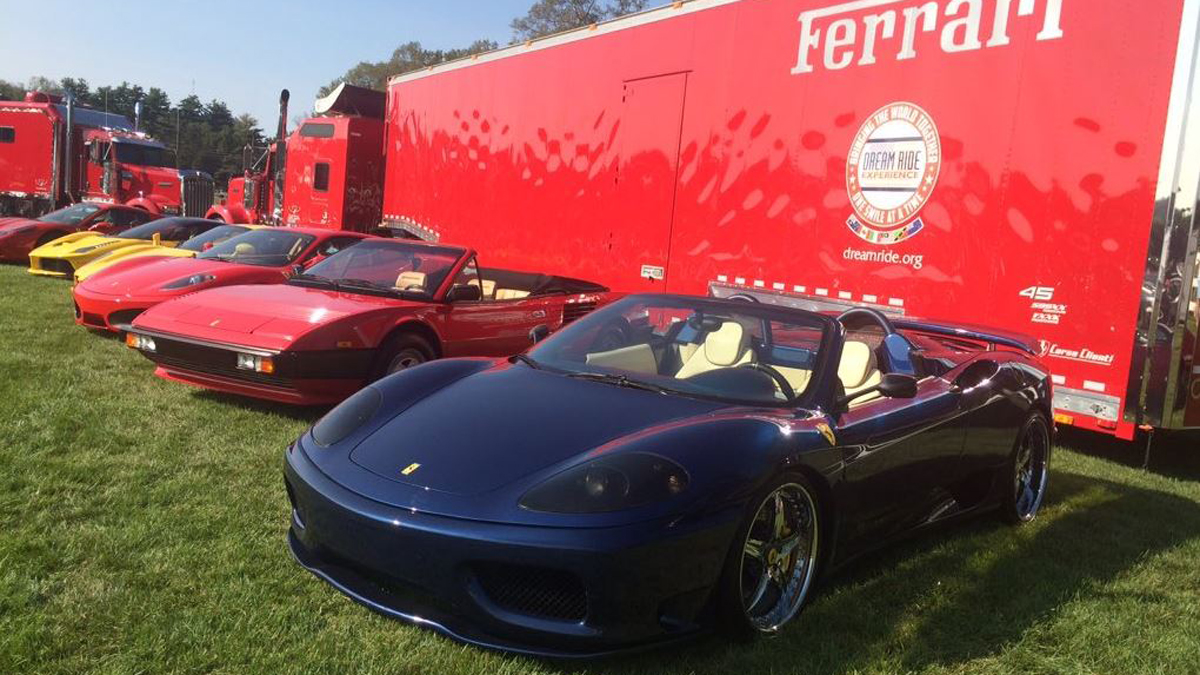 The public was invited to check-out the fleet of Ferraris at the Farmington Polo Club, the custom-made Paganis, and the Rolls Royce, and Bentleys during the Dream Ride Experience, which benefits the Special Olympics.