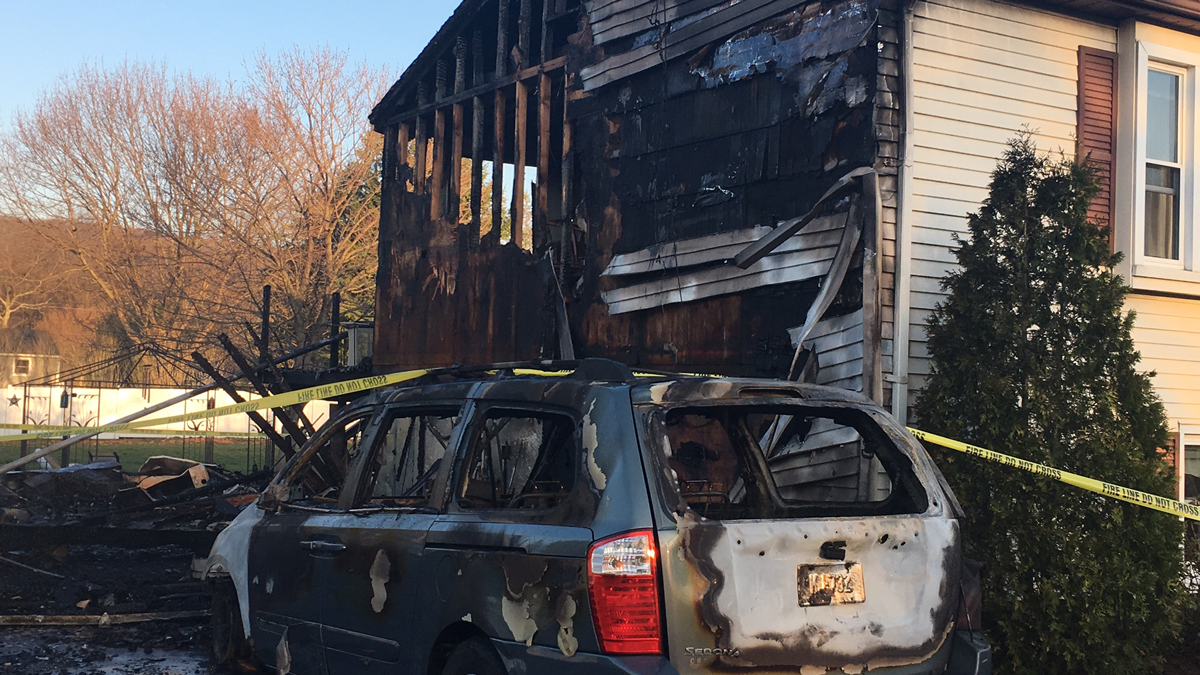 Fire broke out at this home at 78 Fleetwood Rd. in Southington overnight Tuesday.