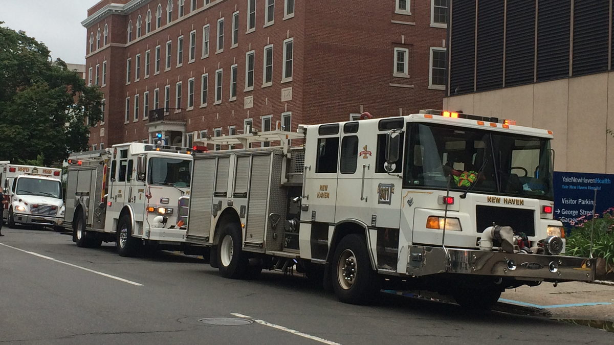 Crews are responding to St. Raphael's Hospital in New Haven for a hazmat situation.