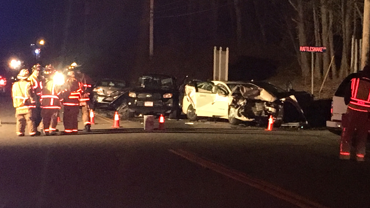 The scene of a serious crash on Old Colchester Road in Salem.