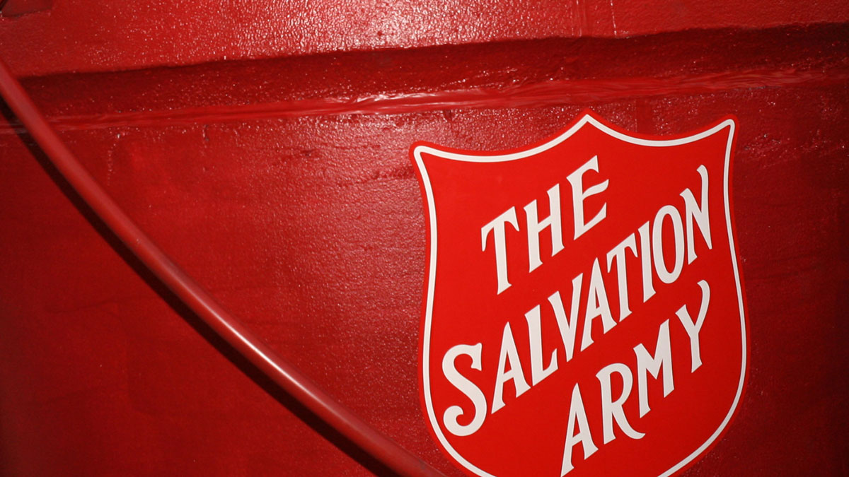 A Salvation Army kettle is pictured in this file photo.