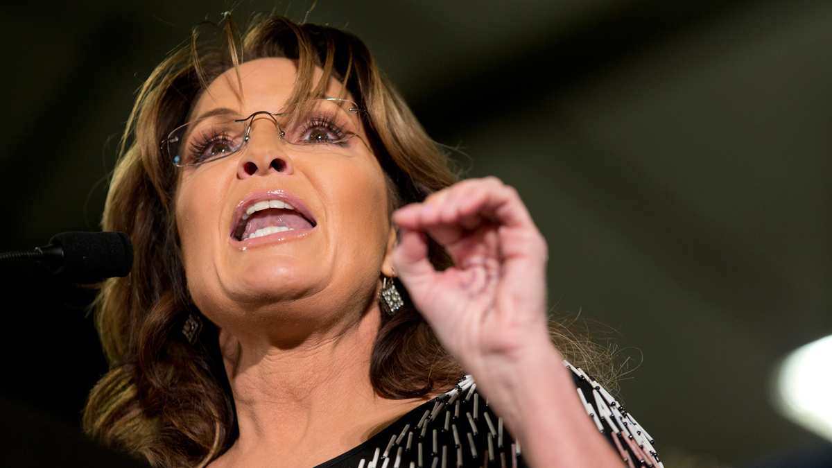 FILE PHOTO - Sarah Palin will work to defeat House Speaker Paul Ryan by backing his primary opponent in Wisconsin, the former Alaska governor told CNN's Jake Tapper.