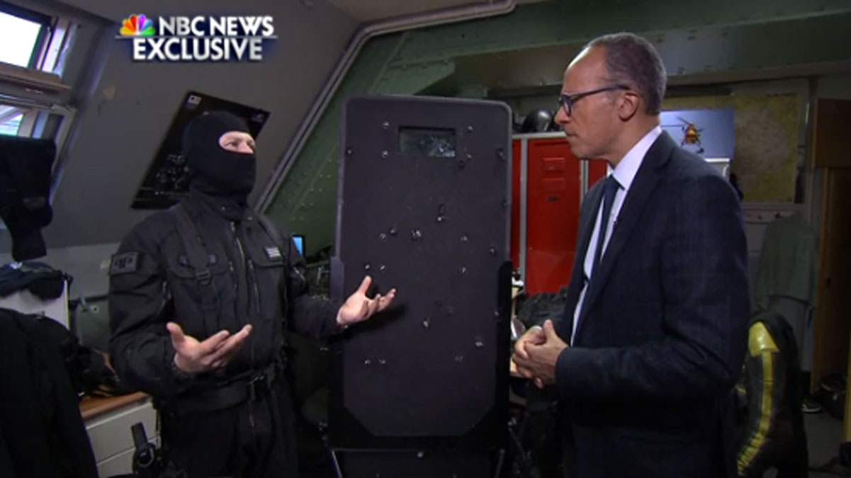 The captain of the French commando unit which stormed the Bataclan concert hall speaking to NBC's Lester Holt.