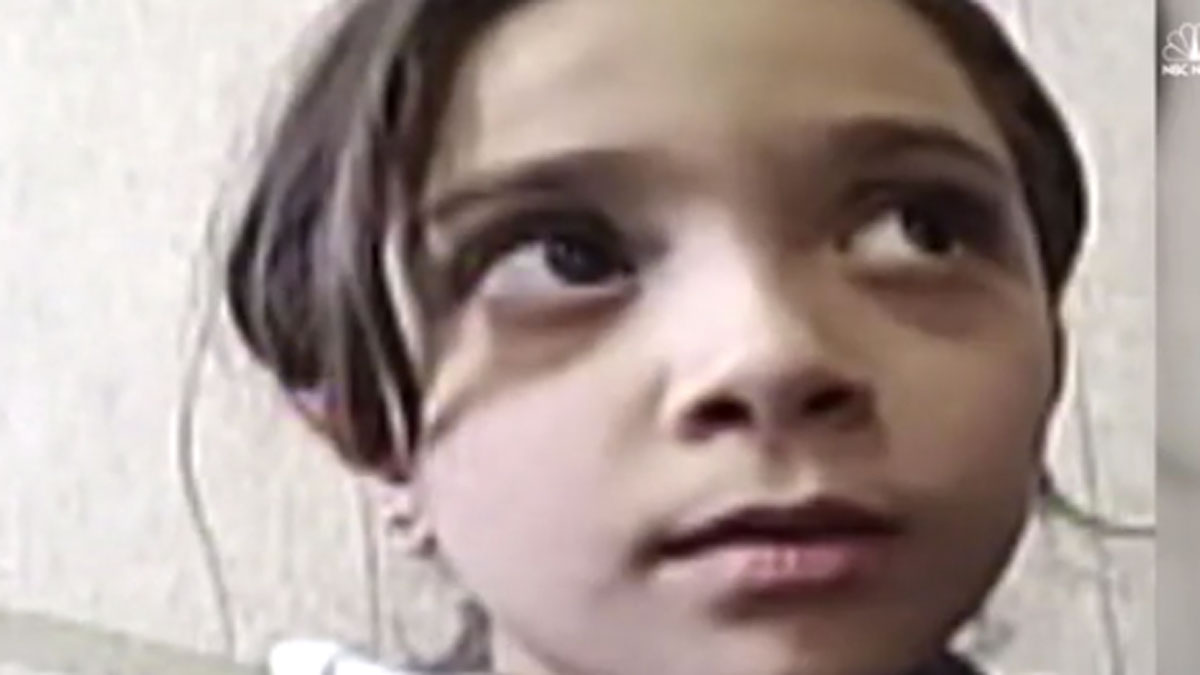 Bana Bana al-Abed and her mother send a video message to NBC News.