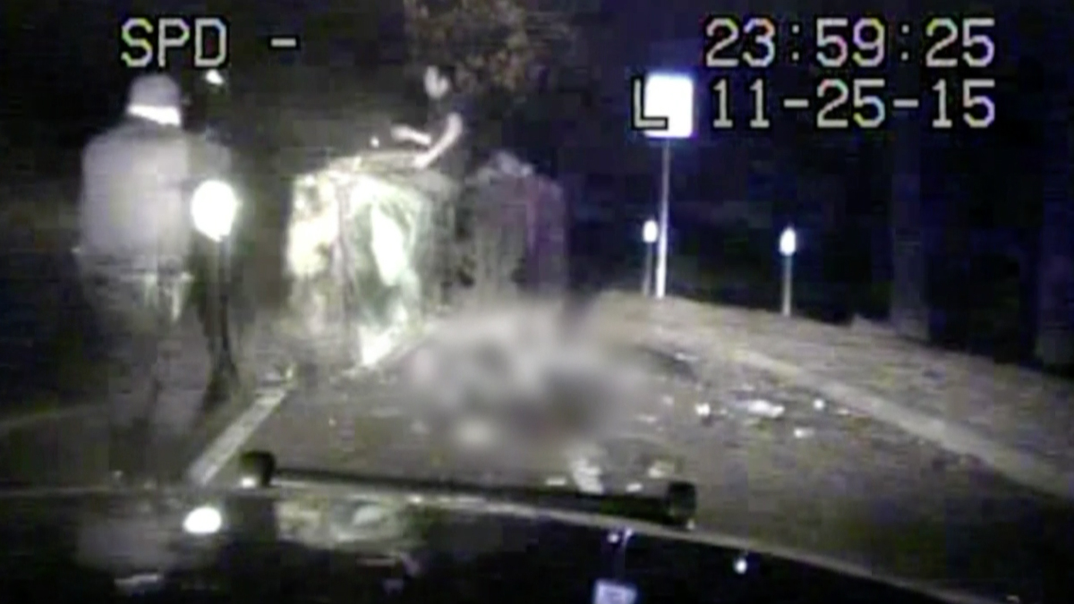 Dash cam video shows Andrew Thomas being shot by Paradise Police Officer Patrick Feaster in November.