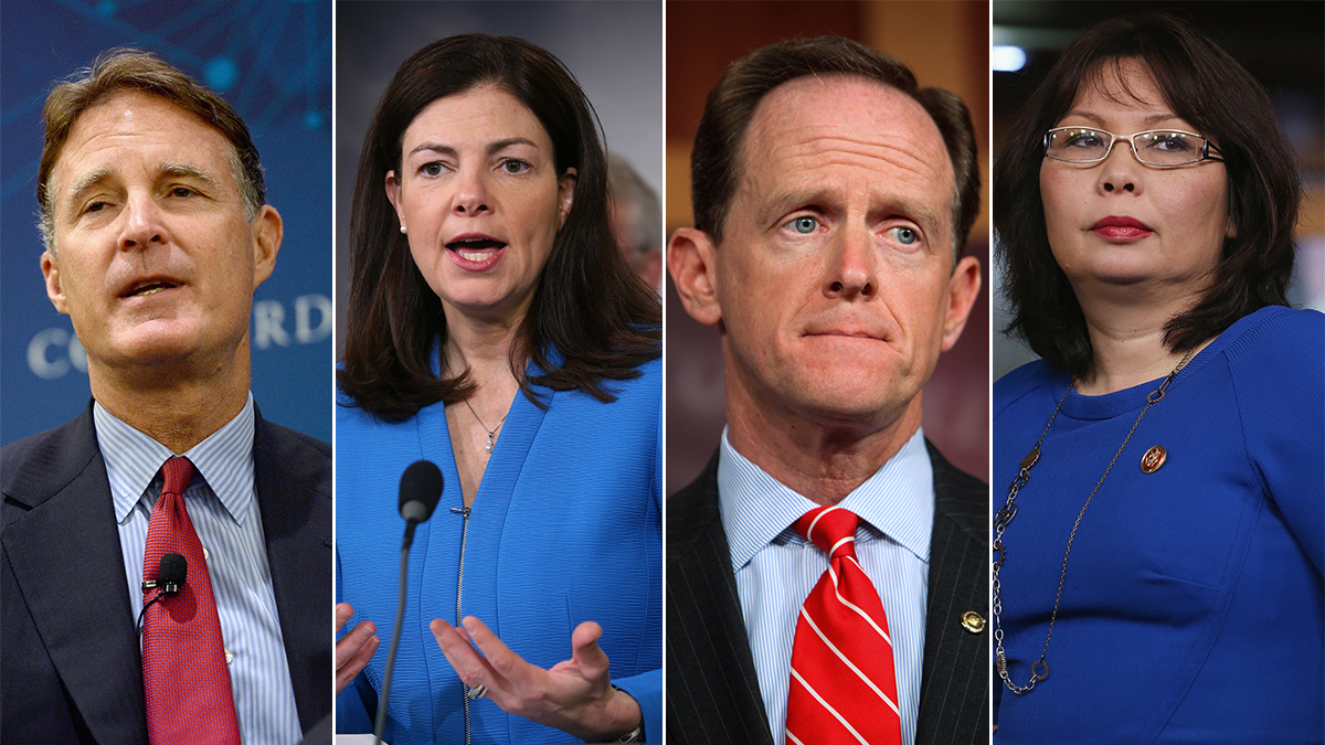 From left: Evan Bayh, Kelly Ayotte, Pat Toomey and Tammy Duckworth are locked in battleground contests.