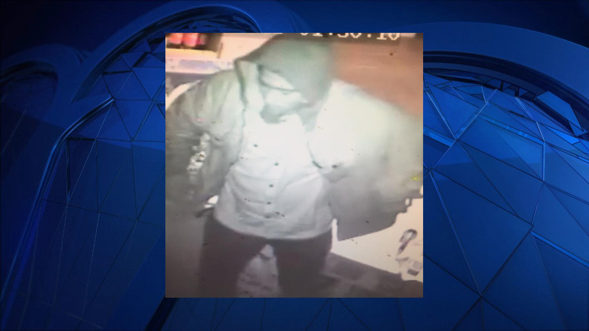 Police said the subject pictured above burglarized the Crown Liquors Package Store on New Haven Road Saturday.