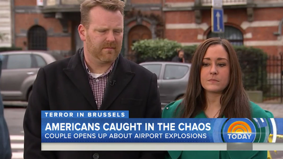 Jeff Hoffman and Sheerine Naraghi (right) appearing on NBC's