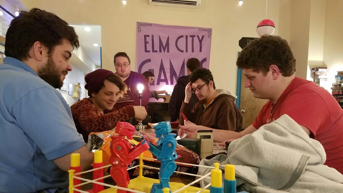 Participants played a variety of games provided by Elm City Games.
