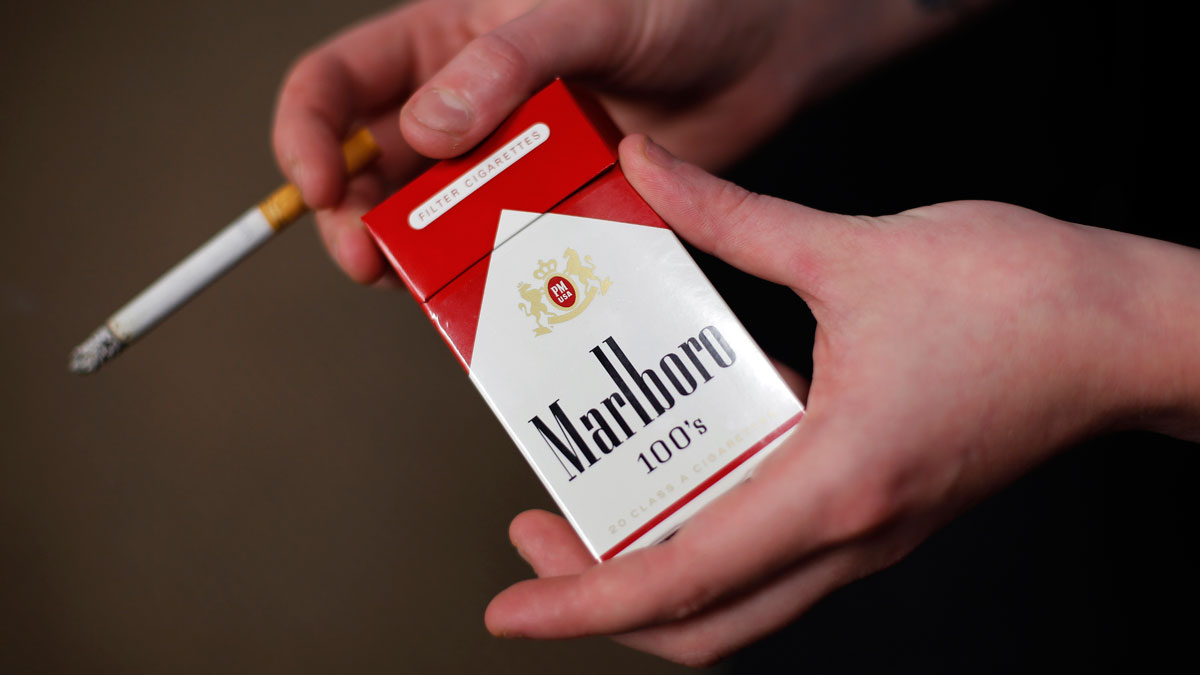 A July 17, 2015, file photo, of a pack of Marlboro cigarettes. A team of researchers has found that half of cancer deaths are related to factors that can easily be controlled.