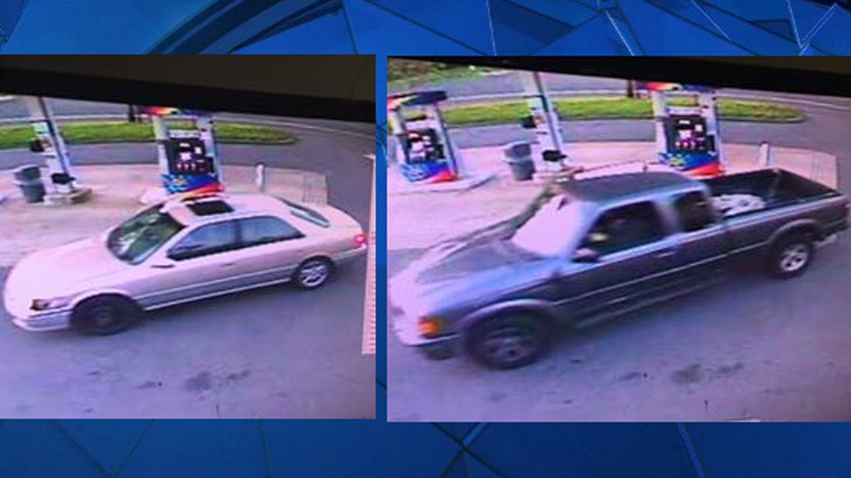 State police say two suspects driving the above vehicles burglarized a Sunoco gas station in Somers Sunday morning.