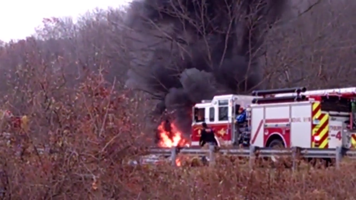 Two men were killed in an accident on I-84 west in Southbury Friday morning.