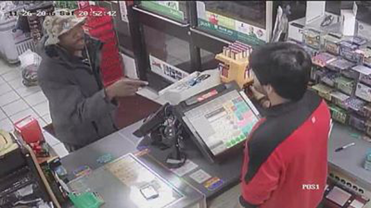 South Windsor police said the subject pictured above robbed the 7-11 at 700 Ellington Road Saturday night.