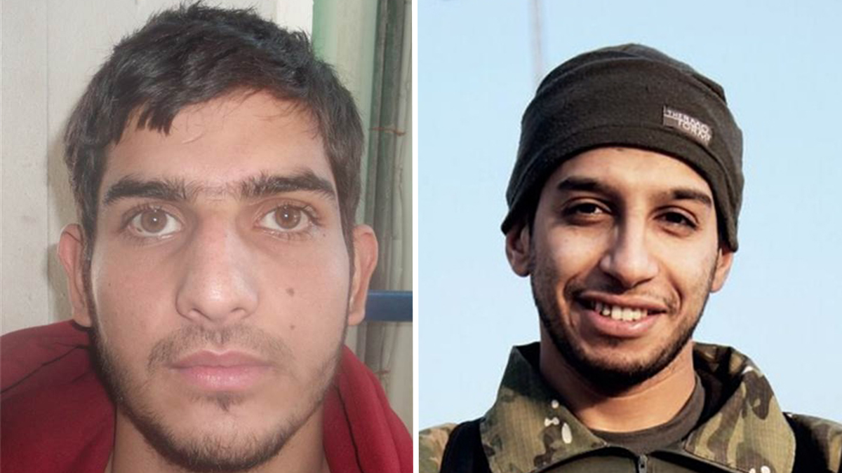 The fingerprints of Ahmad Almohammad, left, matched a suicide bomber who blew himself up near the Stade de France in Paris. Abdelhamid Abaaoud, right, the alleged mastermind of Paris attacks, was featured in a February 2015 issue of Dabiq, an ISIS propaganda magazine.