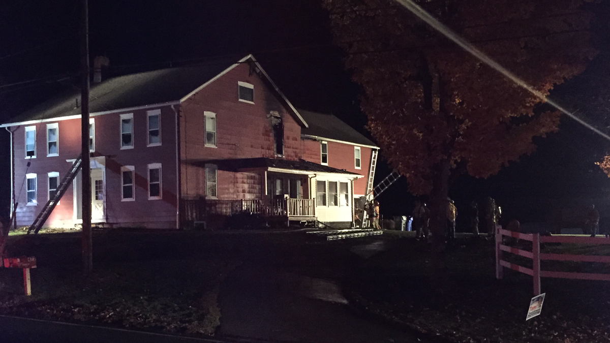 A minor was injured in a house fire at Hastings Farm in Suffield Monday.