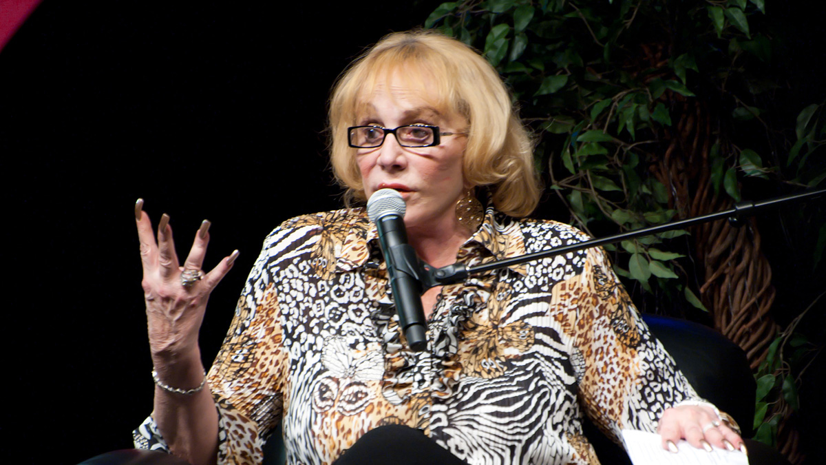 ALBUQUERQUE, NM � NOVEMBER 13: Psychic medium and author Sylvia Browne speaks to the audience during her appearance at Route 66 Casino's Legends Theater on November 13, 2010 in Albuquerque, New Mexico. (Photo by Steve Snowden/Getty Images) *** Local Caption *** Sylvia Browne