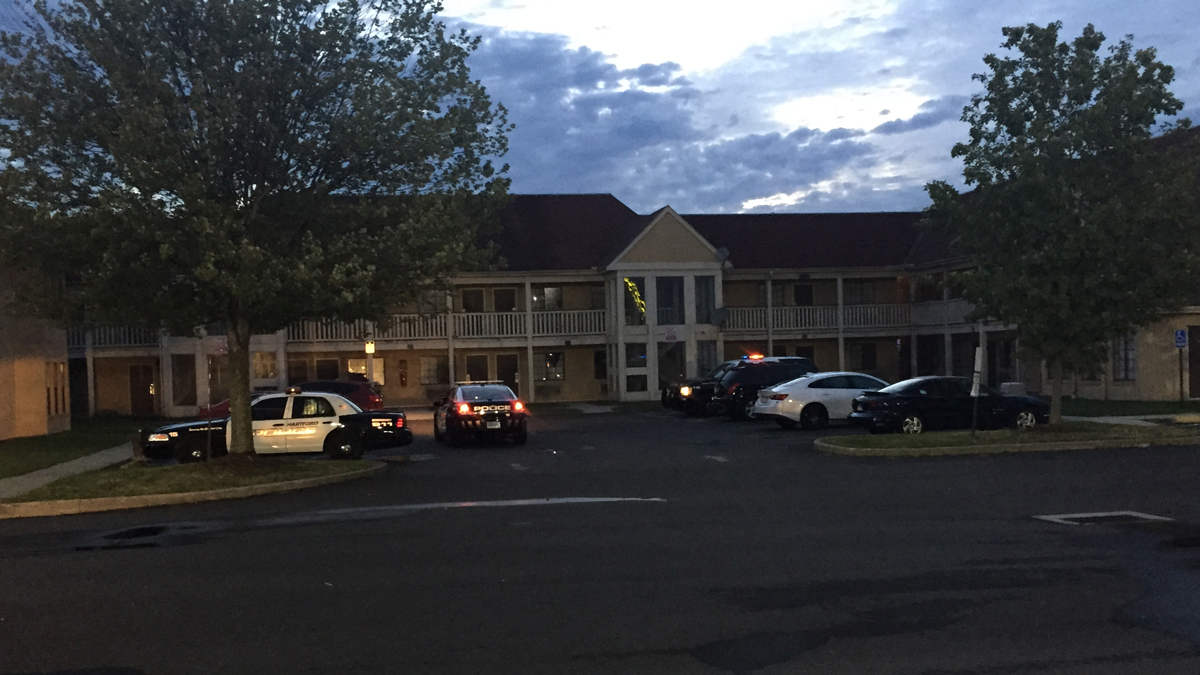 Hartford police investigating after a man was shot at the Travel Inn Motel on Weston Street Wednesday morning.