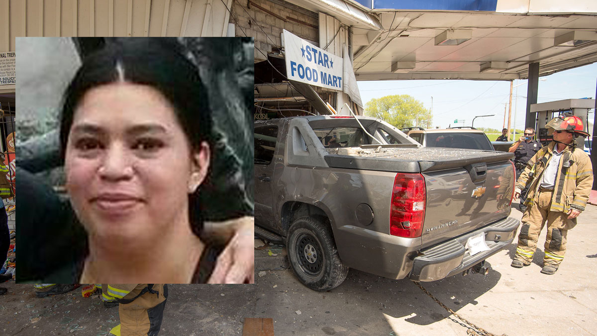Fort Worth police said Sylvia Zazueta (inset) was killed and eight others were injured Tuesday when a truck crashed into a convenience store in East Fort Worth, March 31, 2015.