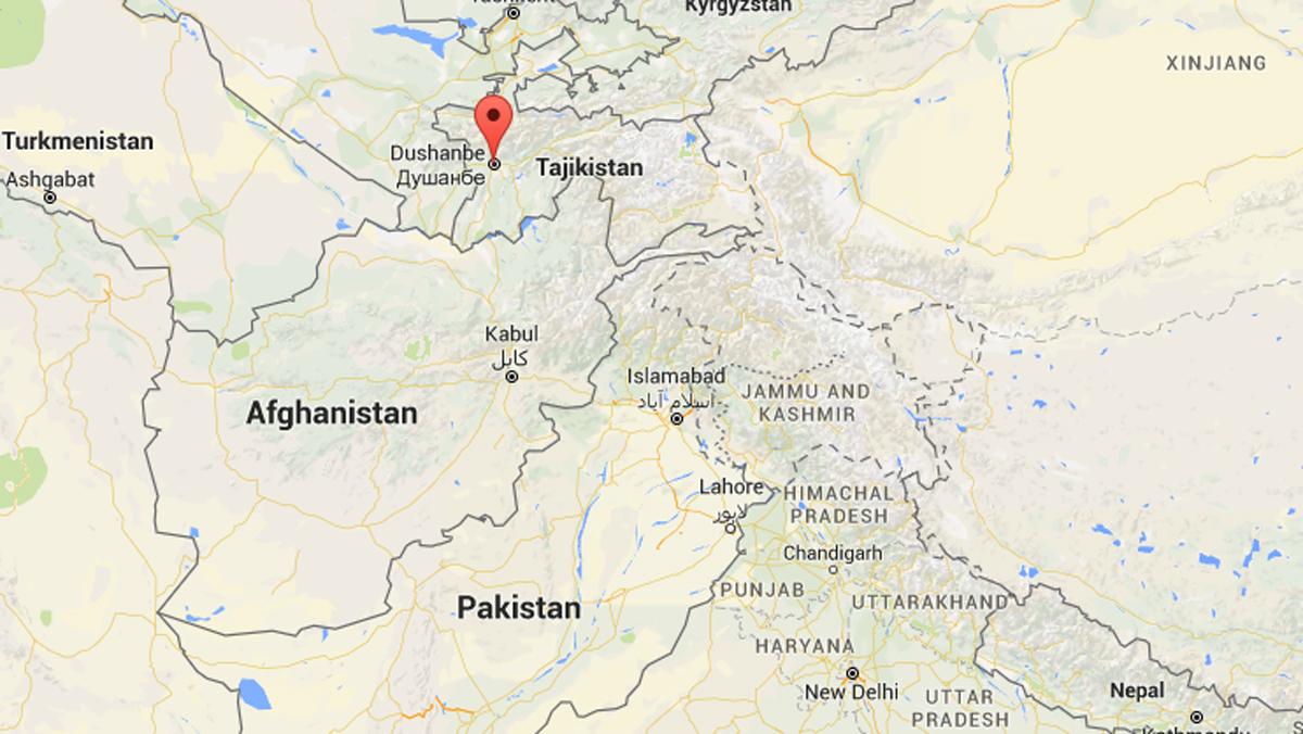 The U.S. Geological Survey said a 7.2-magnitude earthquake hit the Tajik capital of Dushanbe on Monday.