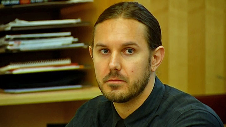 Lambesis appeared with his hair pulled back in a ponytail at the preliminary hearing on Sept. 16, 2013.