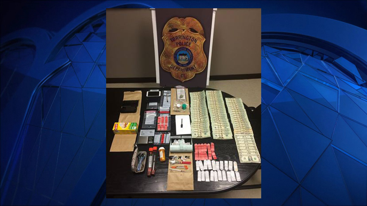 Torrington police seized Heroin, crack Cocaine, marijuana, packaging materials, a scale, crack stems, drug paraphernalia (hypodermic needles), cell phones and cash while executing a search warrant at a local motel Monday.