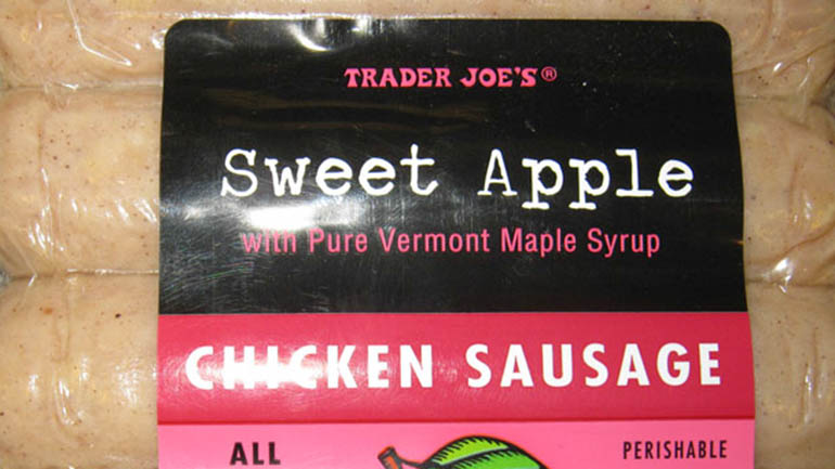 One of the recalled brands was Trader Joe's brand Sweet Apple Chicken Sausage, the USDA reported.