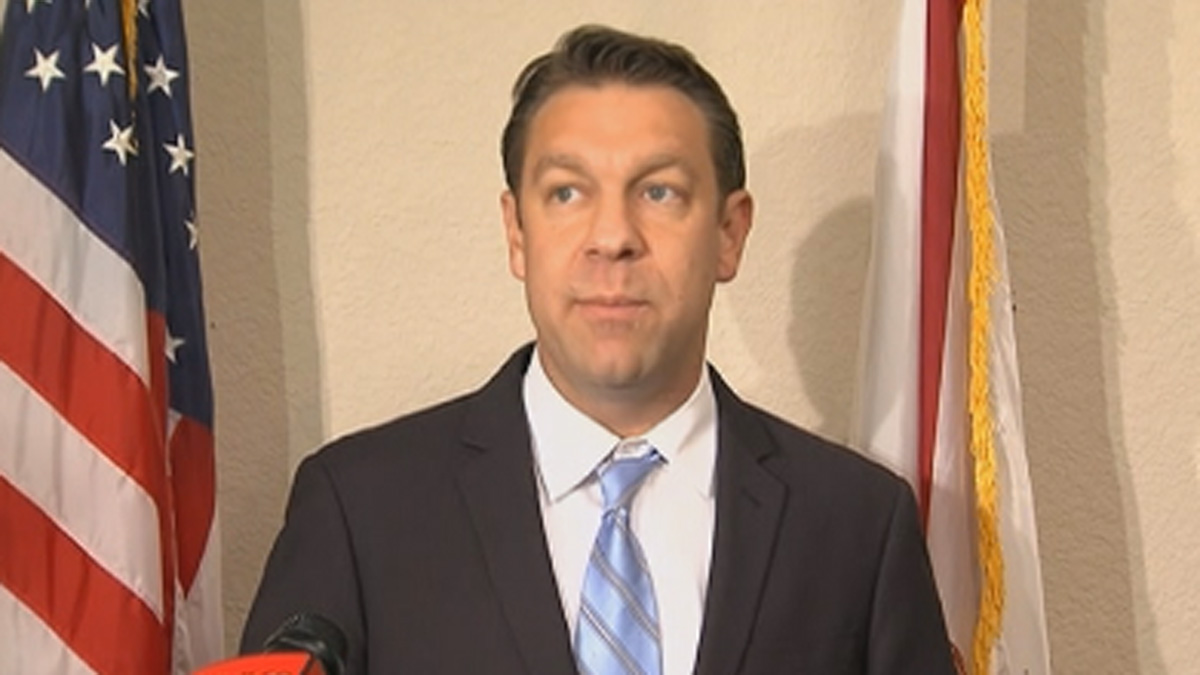 Florida Congressman Trey Radel speaking at a news conference Thursday.