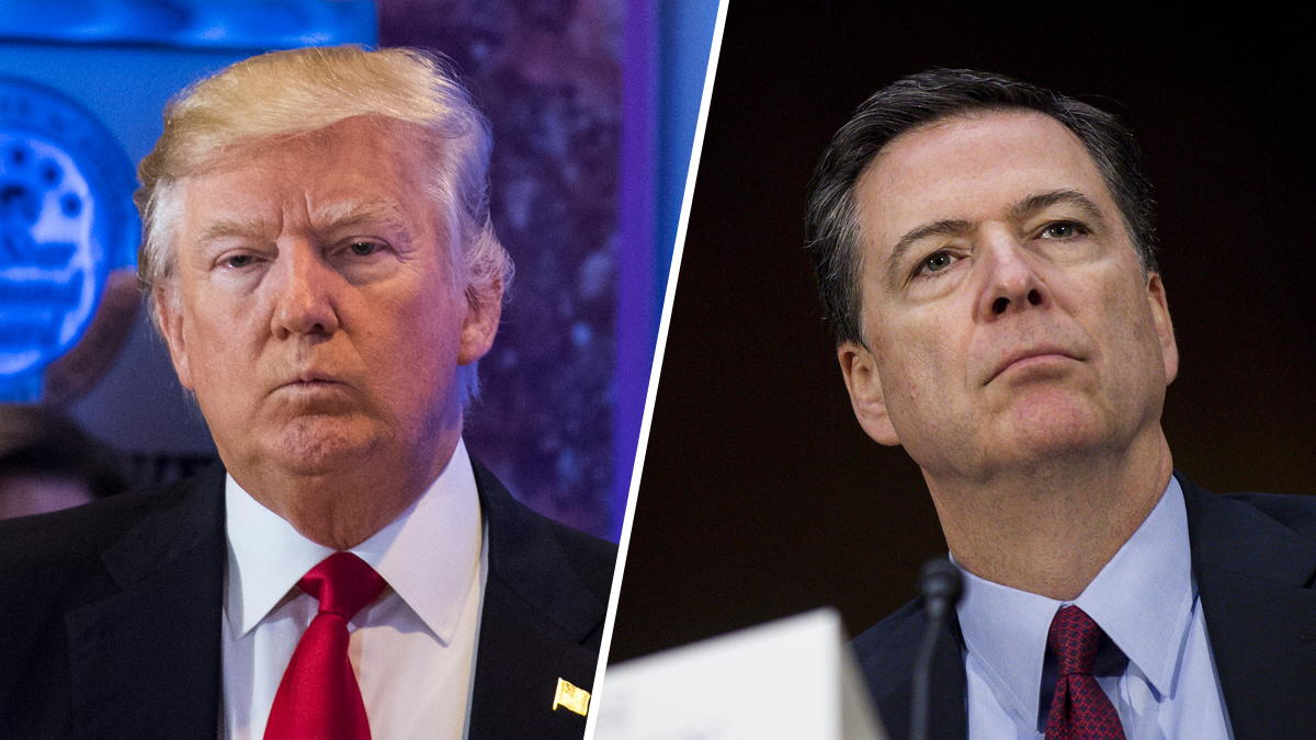 President-elect Donald Trump, left, and FBI Director James Comey, right.