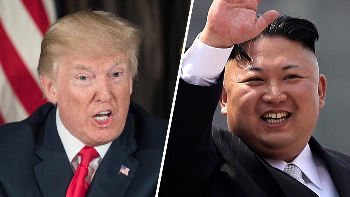 President Donald Trump warned North Korea's Kim Jong-un to de-escalate their nuclear program, promising