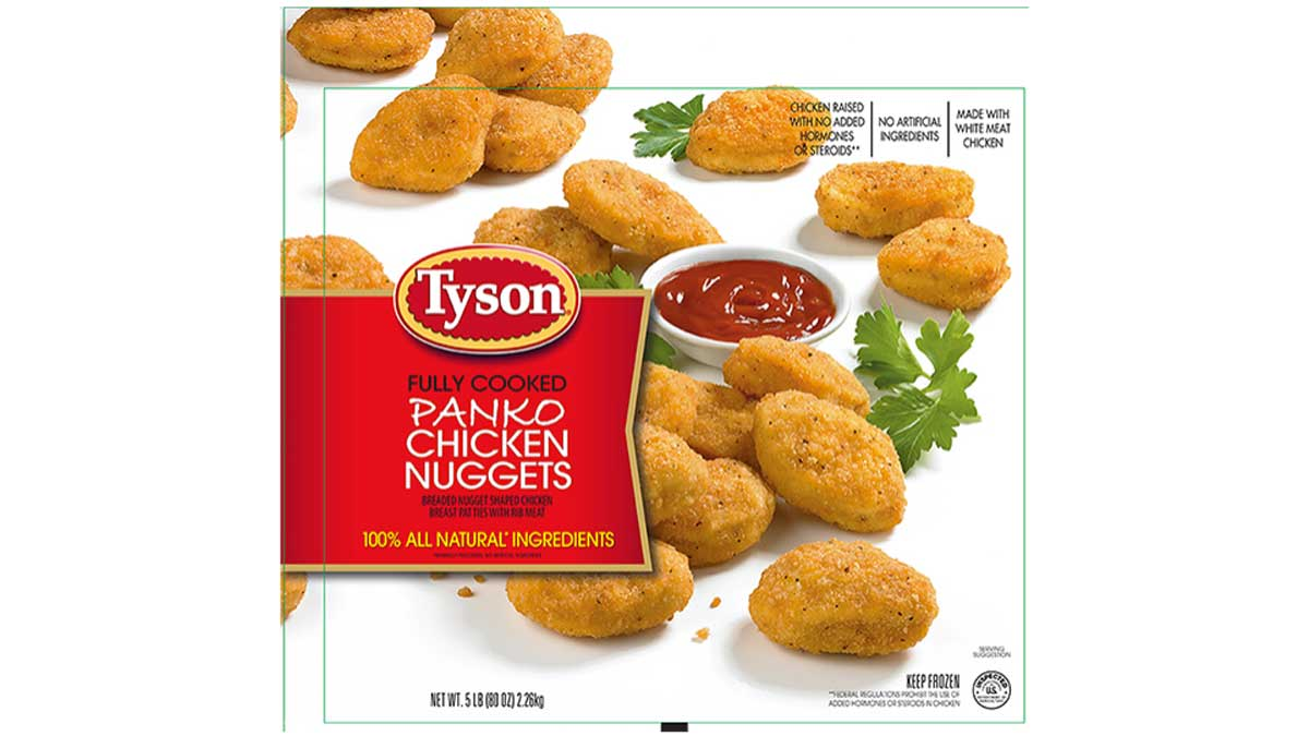 Packages of this Tyson chicken nugget product were recalled on Tuesday, Sept. 27, 2016.