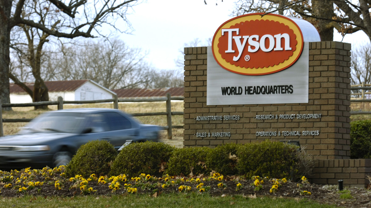 File photo of the Tyson Foods Inc. headquarters in Springdale, Ark. (AP Photo/April L. Brown, File)