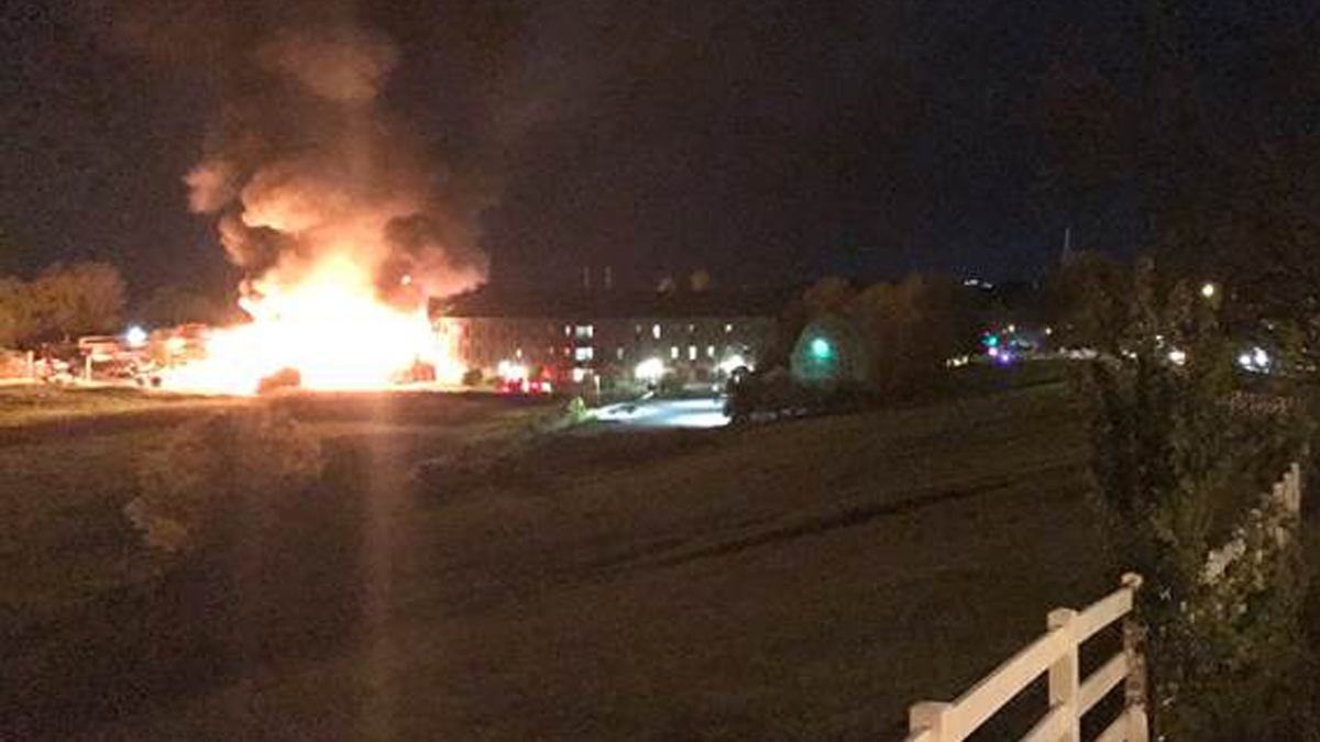 Fire broke out on the UConn Main Campus Monday night