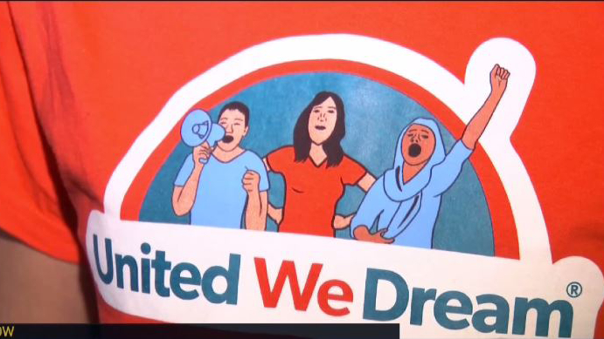 About 100 teens from Connecticut traveled to Washington DC Tuesday for a rally in support of the Deferred Action for Childhood Arrivals program.
