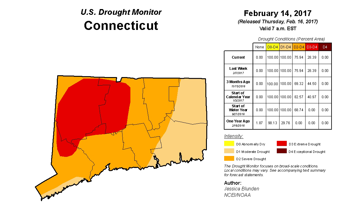 The latest US Drought Monitor survey was released Thursday, Feb. 16