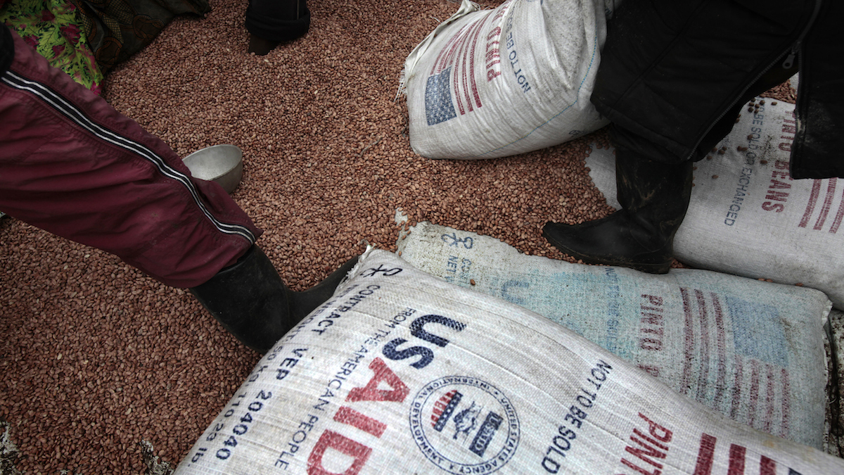File photo of food from USAID.