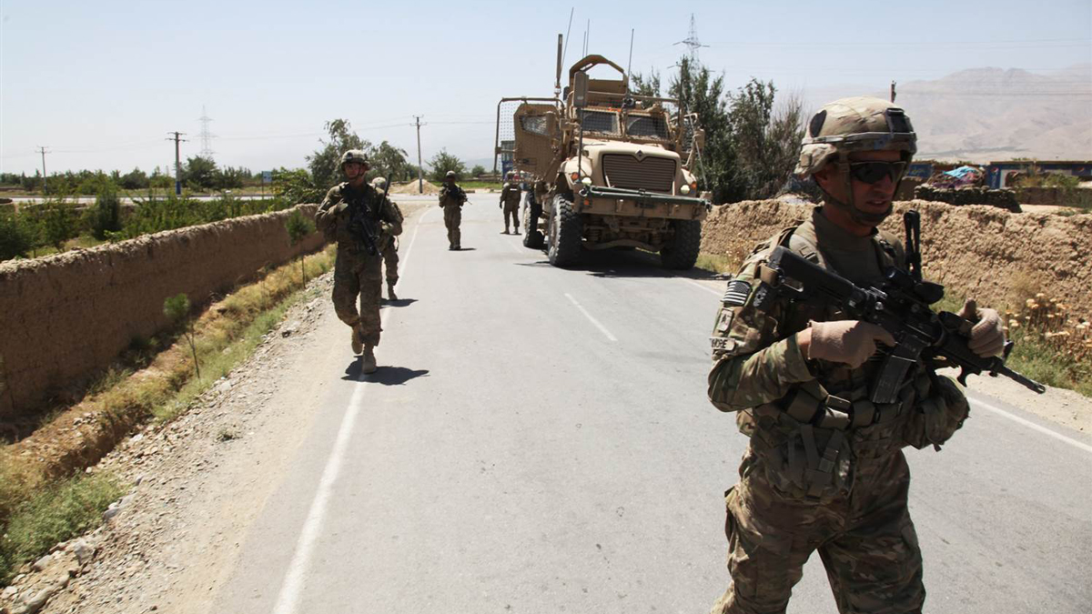 U.S. soldiers patrol a highway in Afghanistan's Parwan province in this file photo.